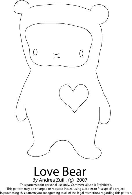 Click on the image to see the full size Love Bear.