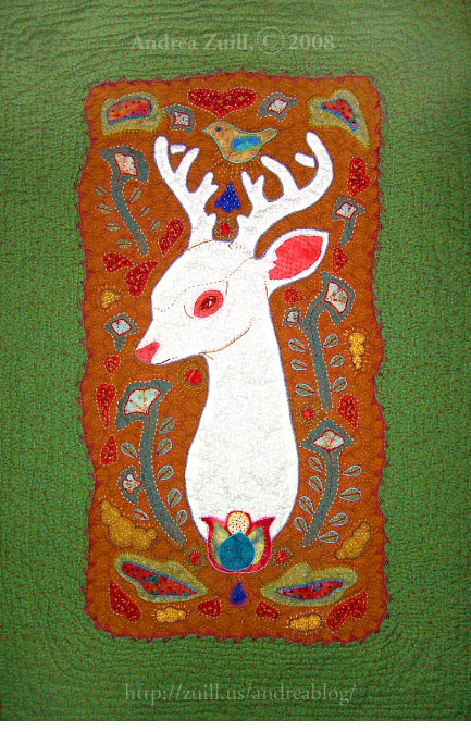 White Deer Quilt - Completed