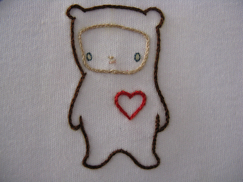 Love Bear Stitched my Kat