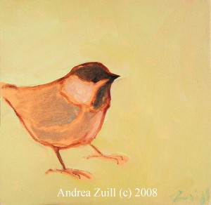 Chickadee, Oil on Canvas
