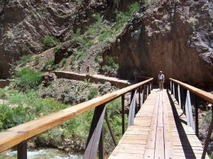 One of the many bridges on the North Kaibab Trail