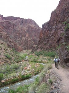 Hiking to Clear Creek, near the Phantom Ranch.