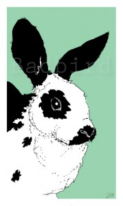 Bunny, print by Andrea Zuill