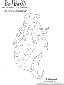 Li\'l Mermaid by Andrea Zuill