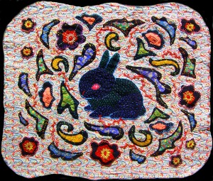 Black Rabbit Quilt by Andrea Zuill