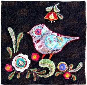 Bird and Flower Quilt by Andrea Zuill