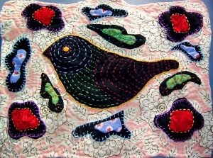 Black Bird quilt by Andrea Zuill
