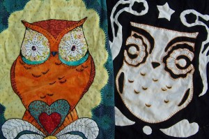 Owl quilts by Andrea Zuill