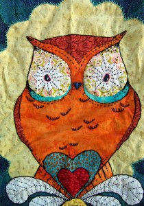 Owl quilt by Andrea Zuill