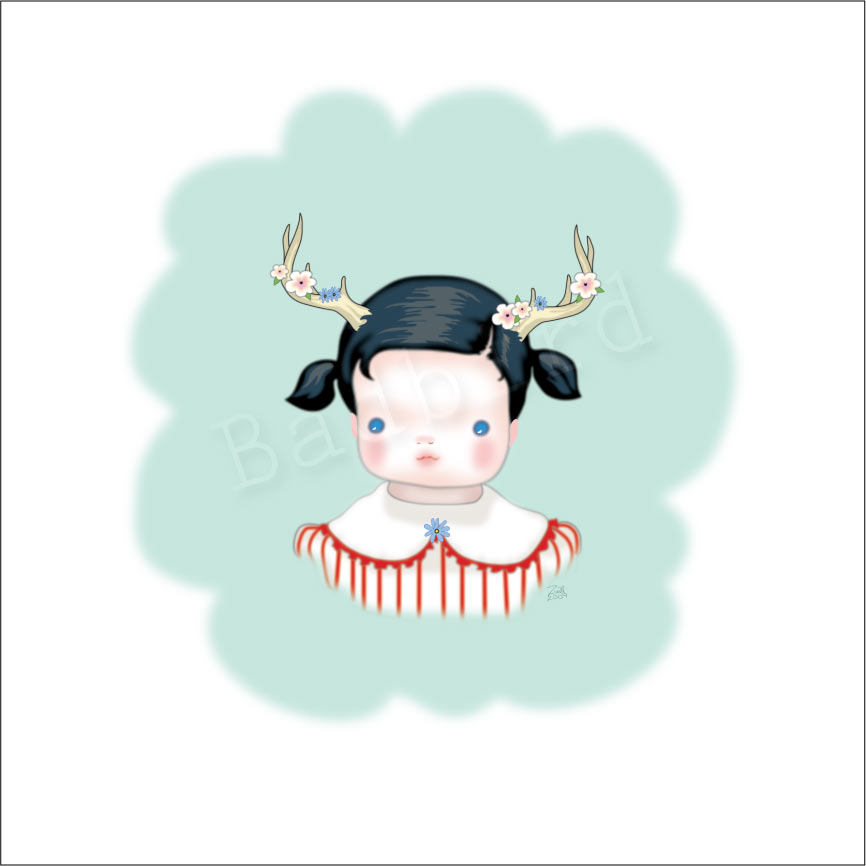 Can there be too many images of little girls with antlers? Discuss…