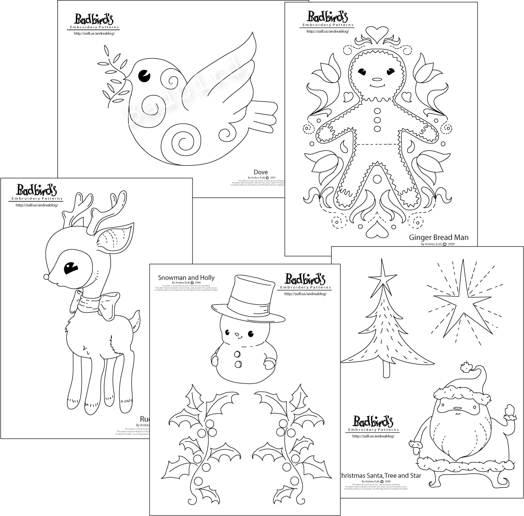 Christmas Embroidery Patterns Free.September 2009 Andrea Zuill S Blog