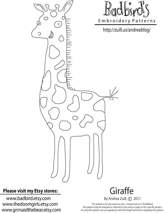 Related For Giraffe Embroidery Pattern Flickr Photo Sharing