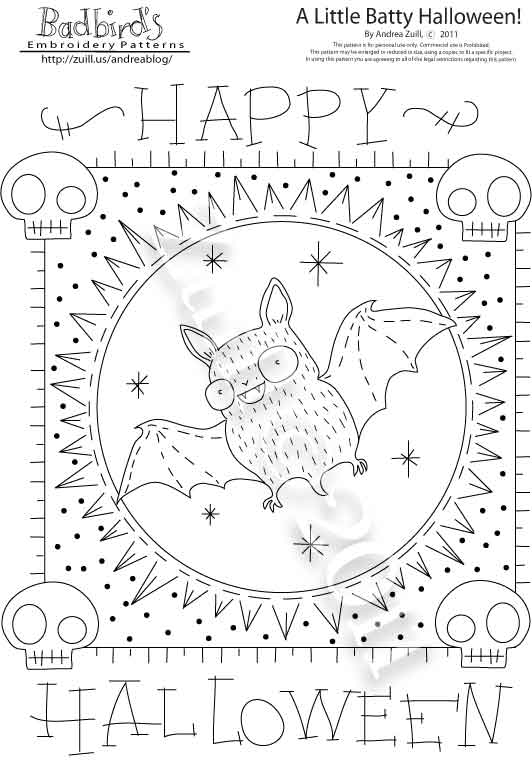 new - Halloween Hand Embroidery Patterns