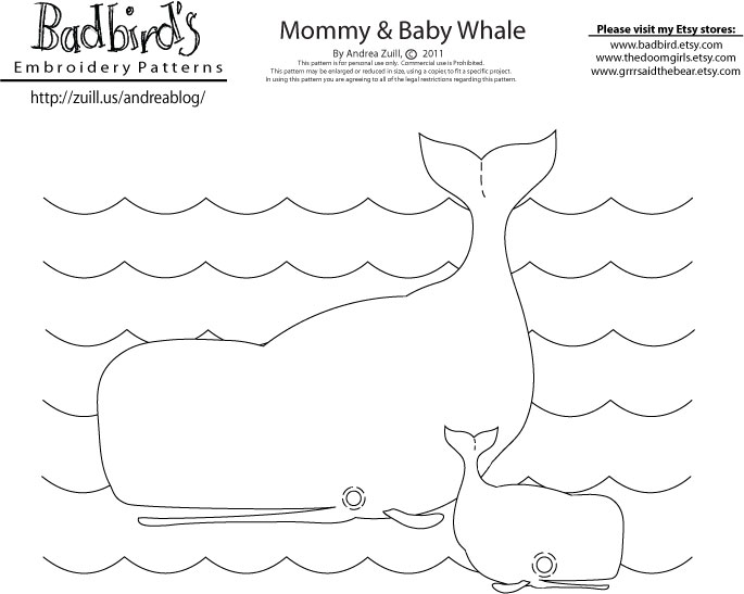 September S Embroidery Pattern It S A Whale Of A Tail