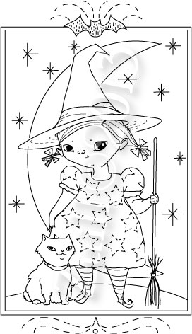 halloween is coming so i felt it was time to have some new holiday patterns the cute little witch you see is my first idea quite a sweetie pie - Halloween Hand Embroidery Patterns